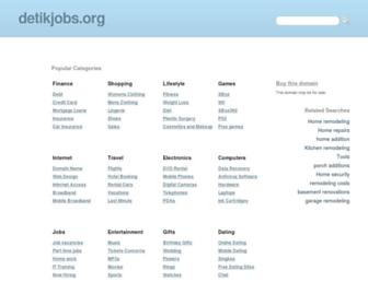 Main page screenshot of detikjobs.org