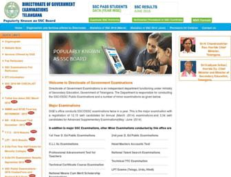 bse.telangana.gov.in screenshot