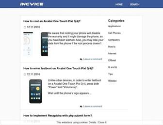 incvice.com screenshot
