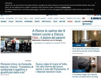 Main page screenshot of lastampa.it