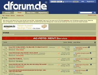 Main page screenshot of dforum.net