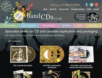 bandcds.co.uk screenshot