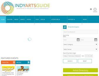 indyartsguide.org screenshot