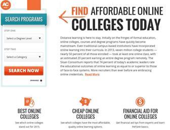 affordablecollegesonline.org screenshot