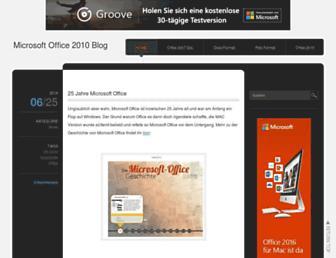 Main page screenshot of office-2010.net