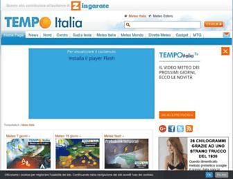 Main page screenshot of tempoitalia.it