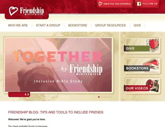 Main page screenshot of friendship.org