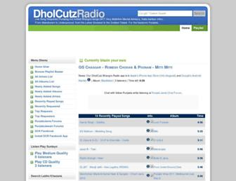 dholcutzradio.com screenshot