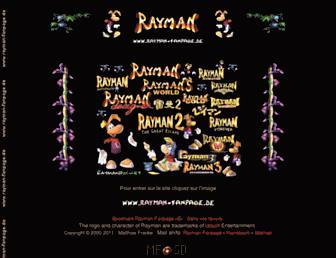 Main page screenshot of rayman-fanpage.de