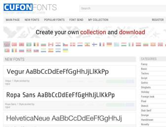 cufonfonts.com screenshot