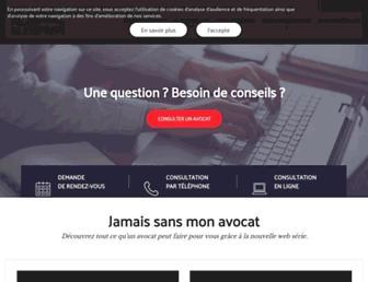 Main page screenshot of avocats.fr