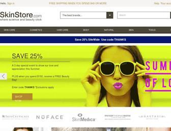 skinstore.com screenshot