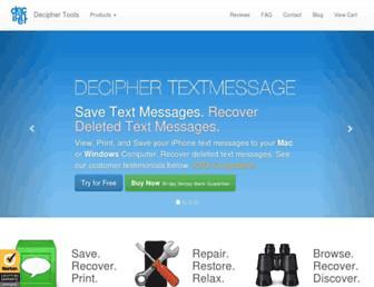 deciphertools.com screenshot