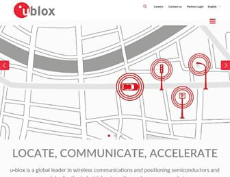 Thumbshot of U-blox.com
