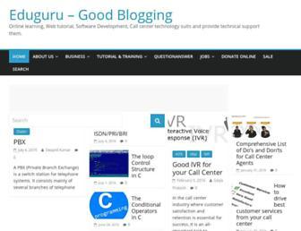 blog.eduguru.in screenshot