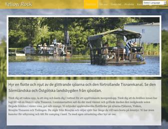 Main page screenshot of yellowrock.se