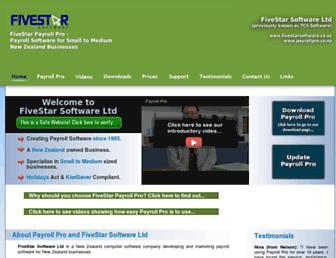 fivestarsoftware.co.nz screenshot