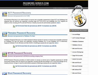 password-service.com screenshot