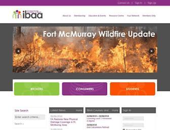ibaa.ca screenshot