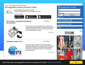 oeffnungszeitenbuch.de screenshot