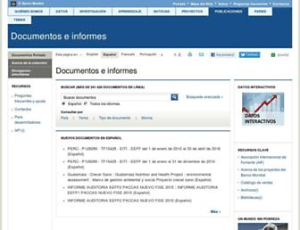 documentos.bancomundial.org screenshot