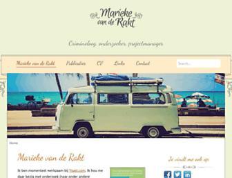 Main page screenshot of mariekevanderakt.nl