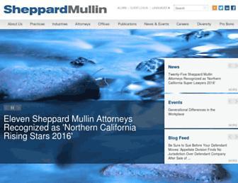 sheppardmullin.com screenshot