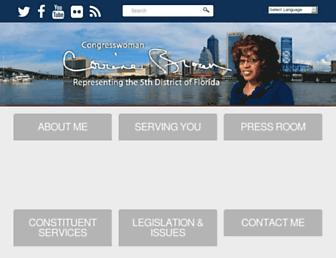 Main page screenshot of corrinebrown.house.gov