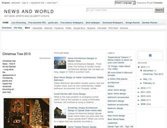 newsandworld.blogspot.com screenshot