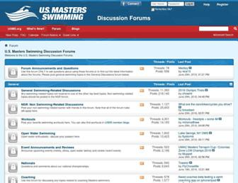 Main page screenshot of forums.usms.org