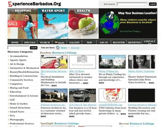 experiencebarbados.org screenshot