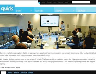 Main page screenshot of quirk.co.za