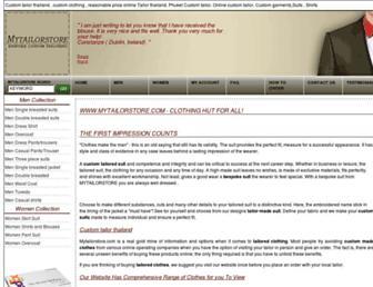 mytailorstore.com screenshot