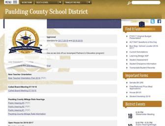 paulding.k12.ga.us screenshot