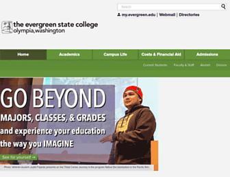 Main page screenshot of evergreen.edu