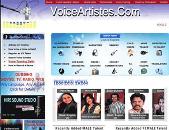 voiceartistes.com screenshot