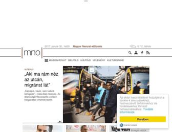 Main page screenshot of m.mno.hu