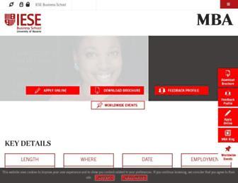 mba.iese.edu screenshot