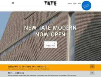 tate.org.uk screenshot