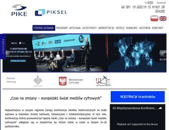 Main page screenshot of konferencjepike.pl