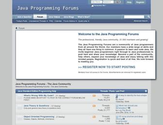 javaprogrammingforums.com screenshot
