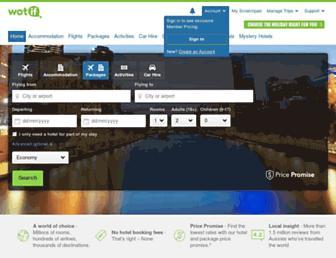 wotif.com screenshot