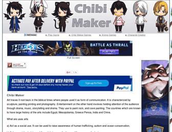 chibimaker.net screenshot