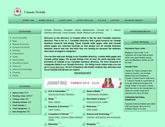 Thumbshot of Canadawebdir.com