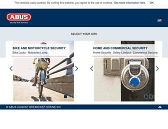 Main page screenshot of abus.de