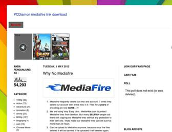 mediafirepcdiamonlink.blogspot.com screenshot