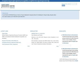 ngocentre.org.vn screenshot