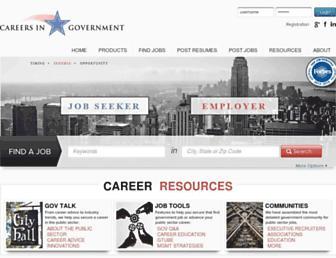 careersingovernment.com screenshot