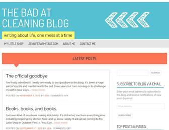 Thumbshot of Thebadatcleaningblog.com