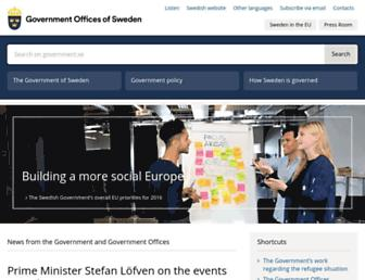 government.se screenshot